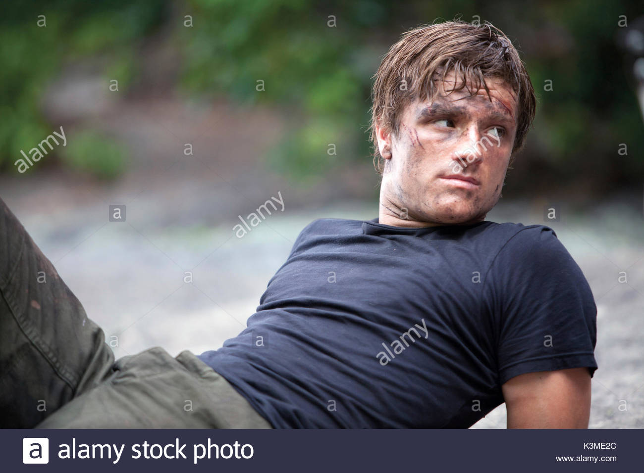 THE HUNGER GAMES [US 2012] JOSH HUTCHERSON as Peeta Mellark     Date: 2012 - Stock Image