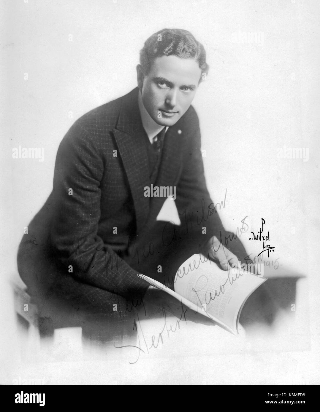 HERBERT RAWLINSON [1885 - 1953] English-born (Brighton) silent film leading man in US productions who successfully     Date: 1953 - Stock Image