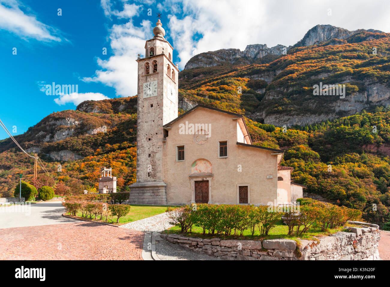 The Church of San Quirico and Juliet, Castellavazzo, Belluno - Stock Image