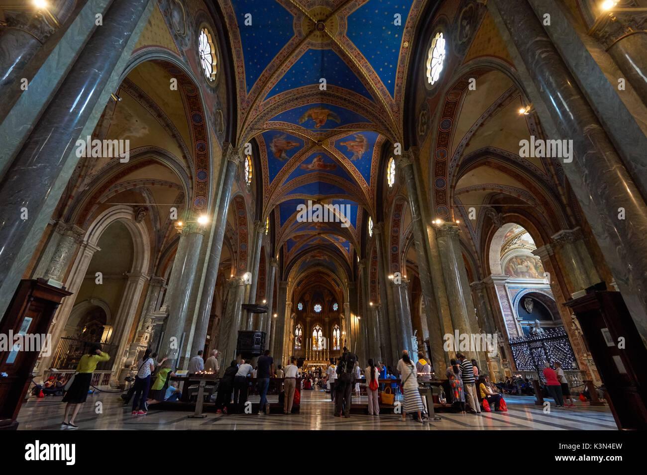 Santa Maria sopra Minerva church in Rome, Italy Stock Photo