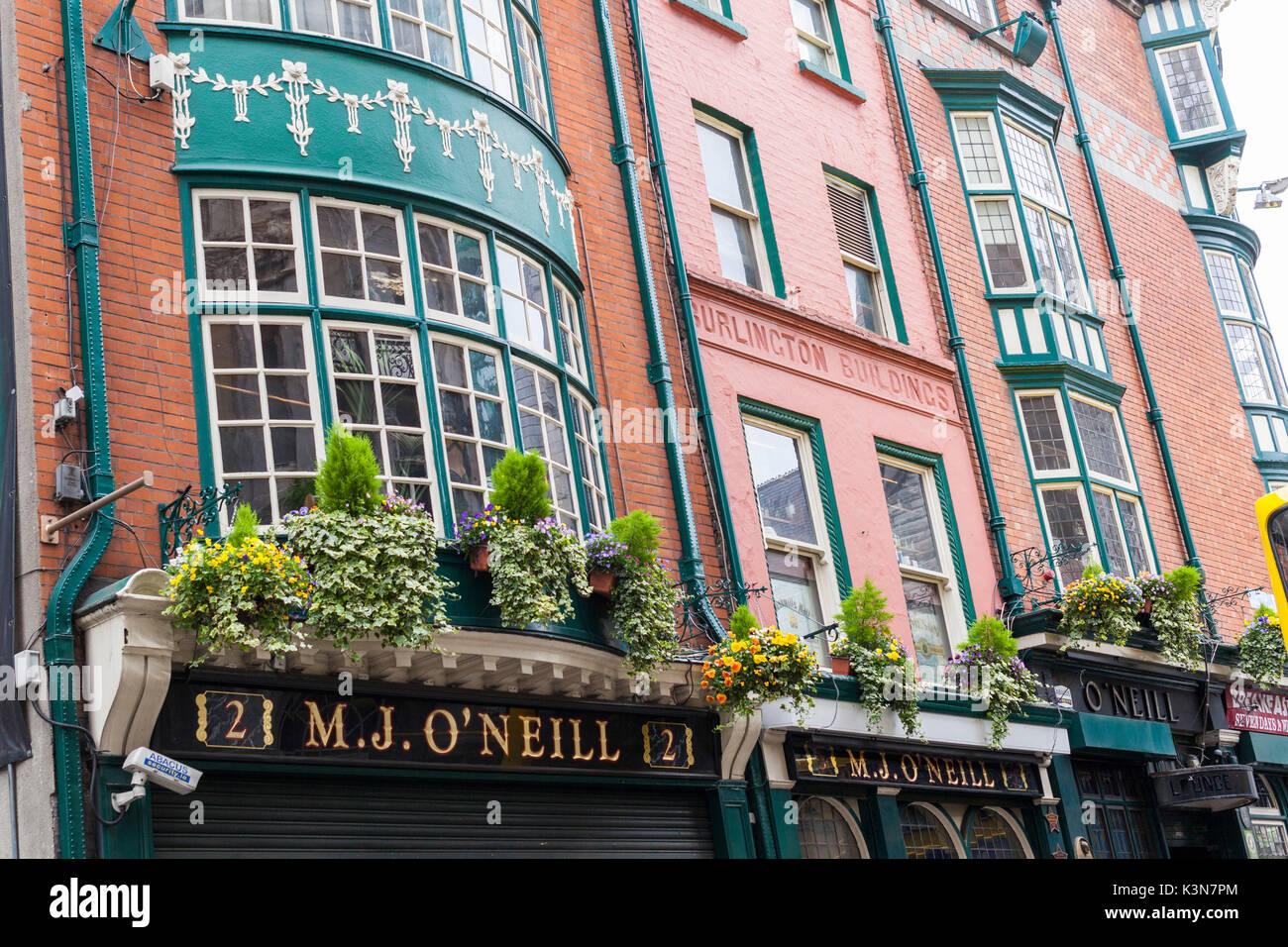 Historical buildings in Dublin, Leinster, Ireland, Europe. - Stock Image