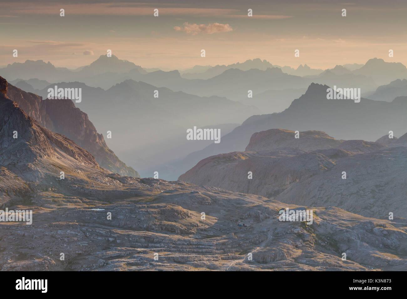 Plateau of Pale of San Martino, San Martino di Castrozza, Trento province, Dolomites, Trentino Alto Adige, Italy, Stock Photo