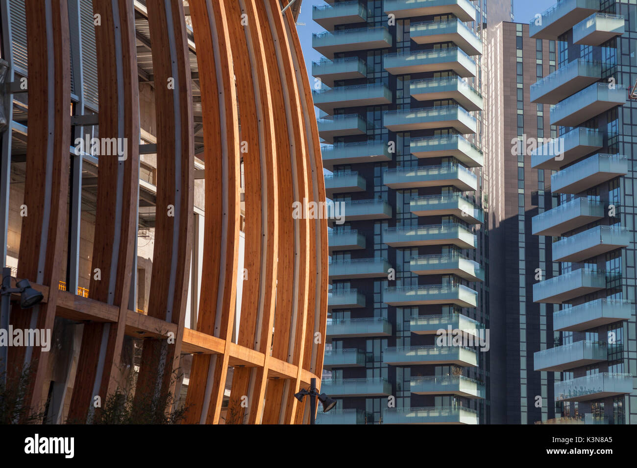Milan, Lombardy, Italy. Some modern architectures in Gae Aulenti square. - Stock Image