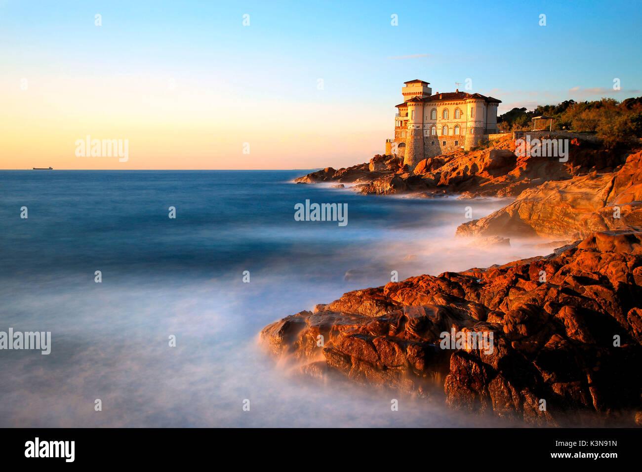 Boccale Castle, Livorno district, Tuscany, Italy - Stock Image