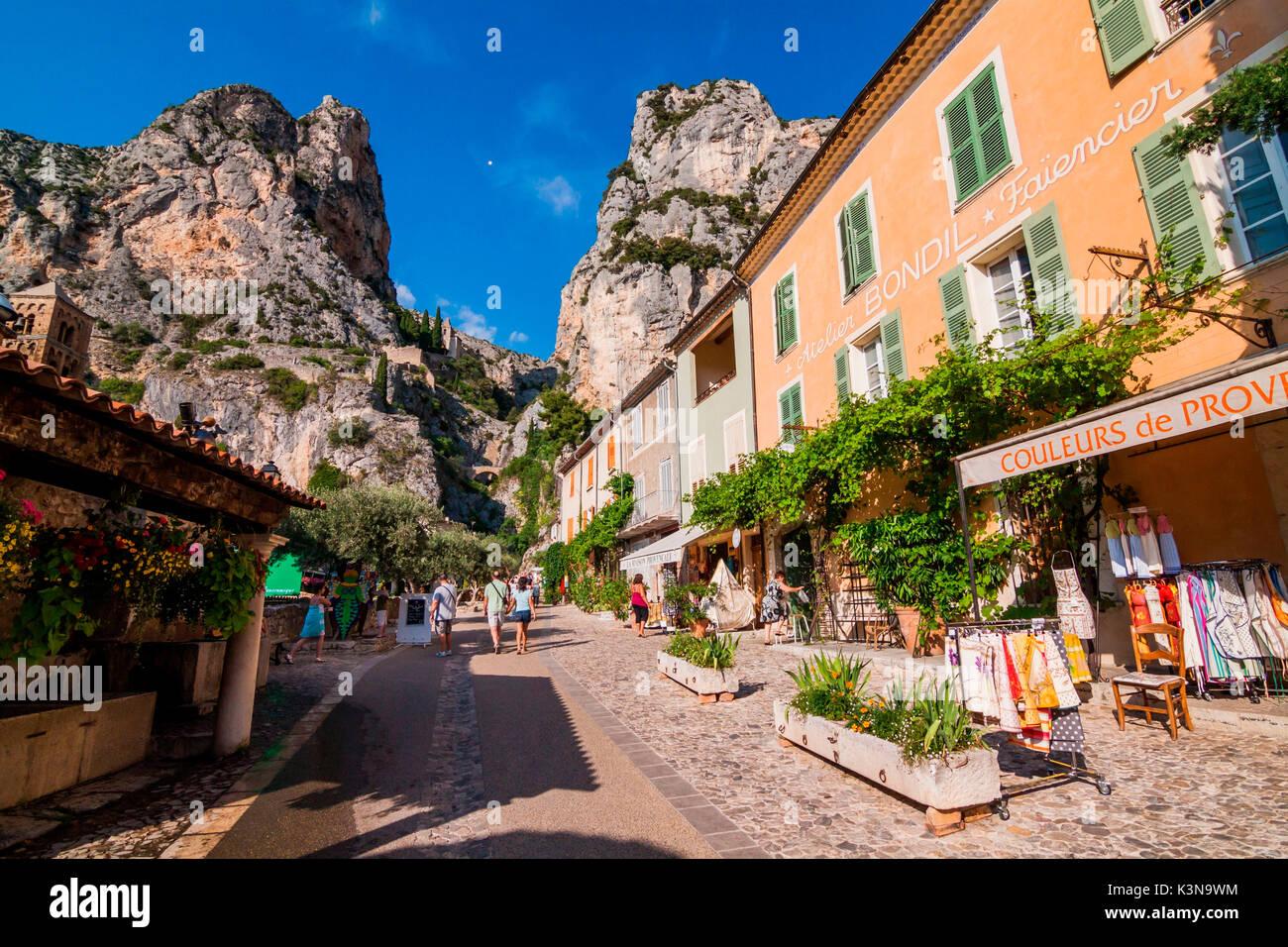 France, Provence, near Gorges du Verdon, Moustier-Sainte-Marie Stock Photo
