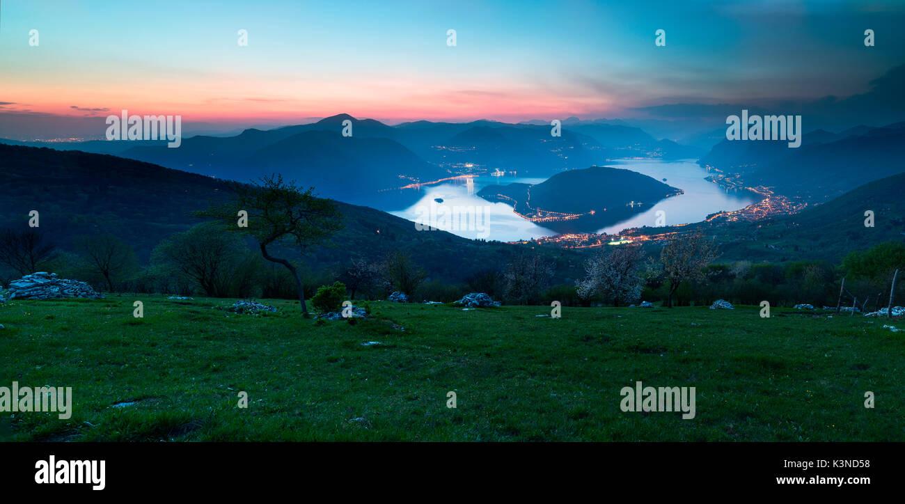 Iseo Lake,Brescia, Lombardy, Italy - Stock Image
