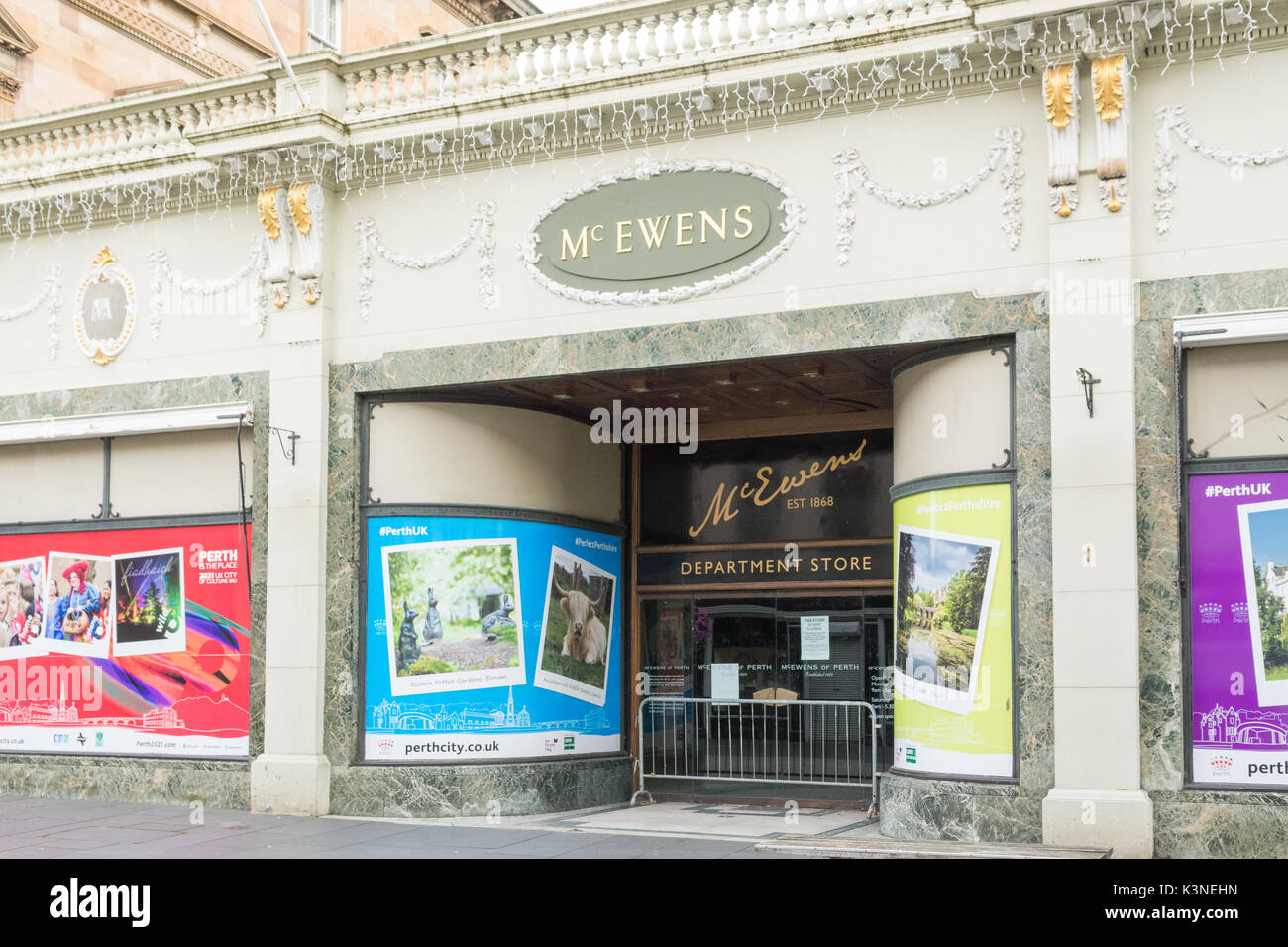 McEwens Independent department store, Perth, Scotland, UK - closed in 2016 - Stock Image