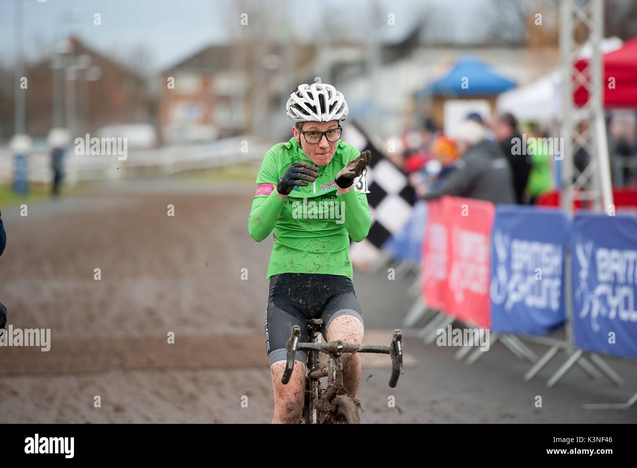 slabikes' founder Isla Rowntree and Cyclocross Champion - Stock Image
