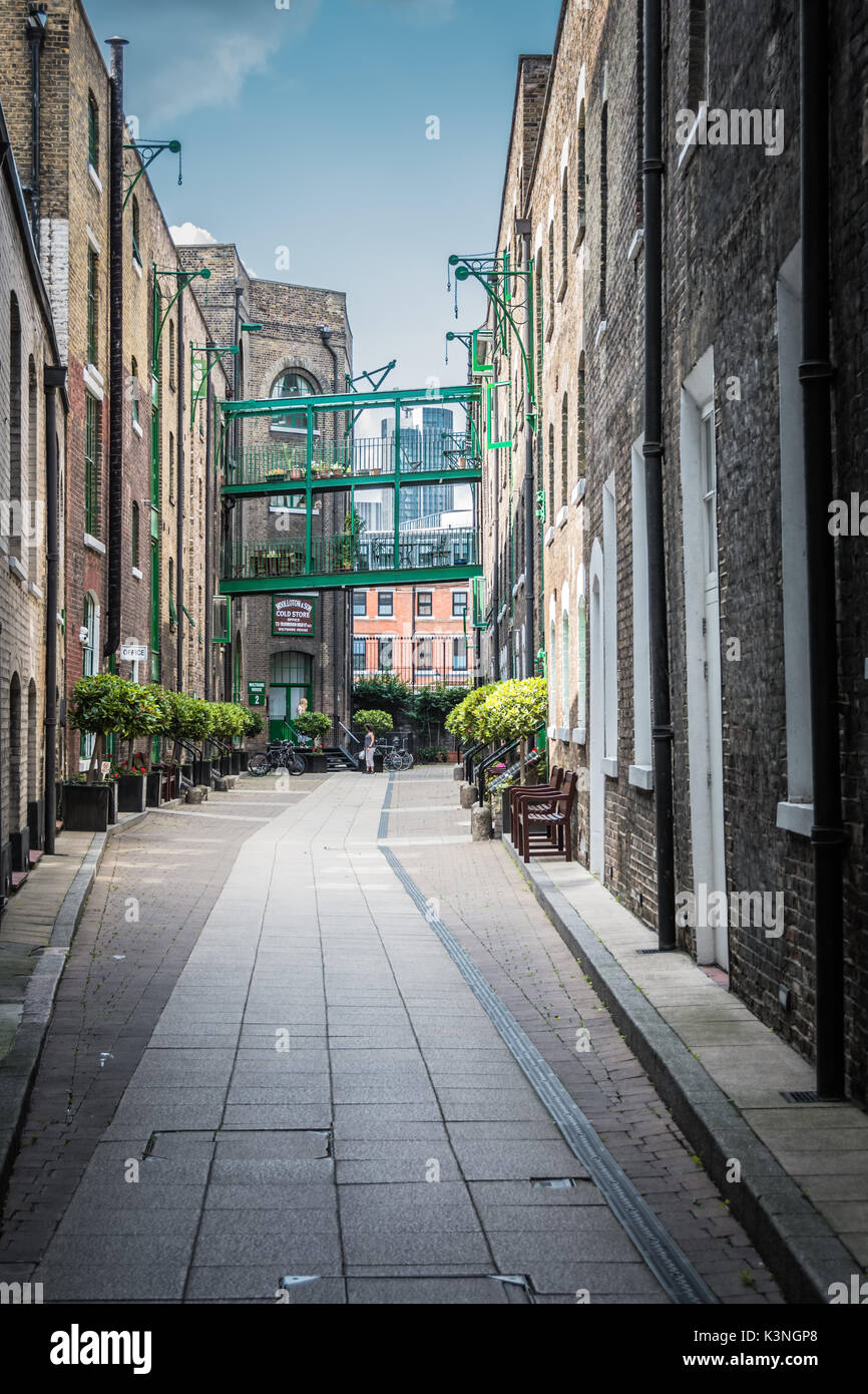 The courtyard of Maidstone Buildings Mews, off Borough High Street,London SE1, UK. - Stock Image