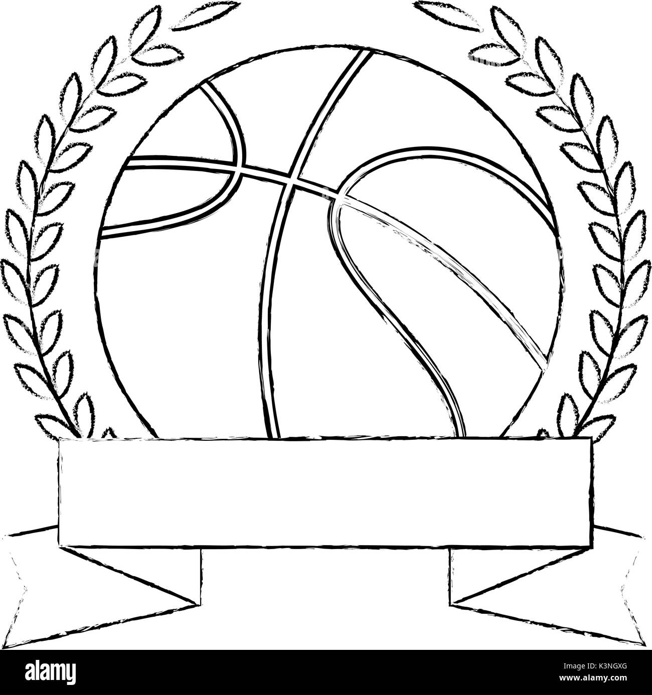 basketball sketch black and white stock photos images alamy  basketball ball emblem icon vector illustration graphic design stock image