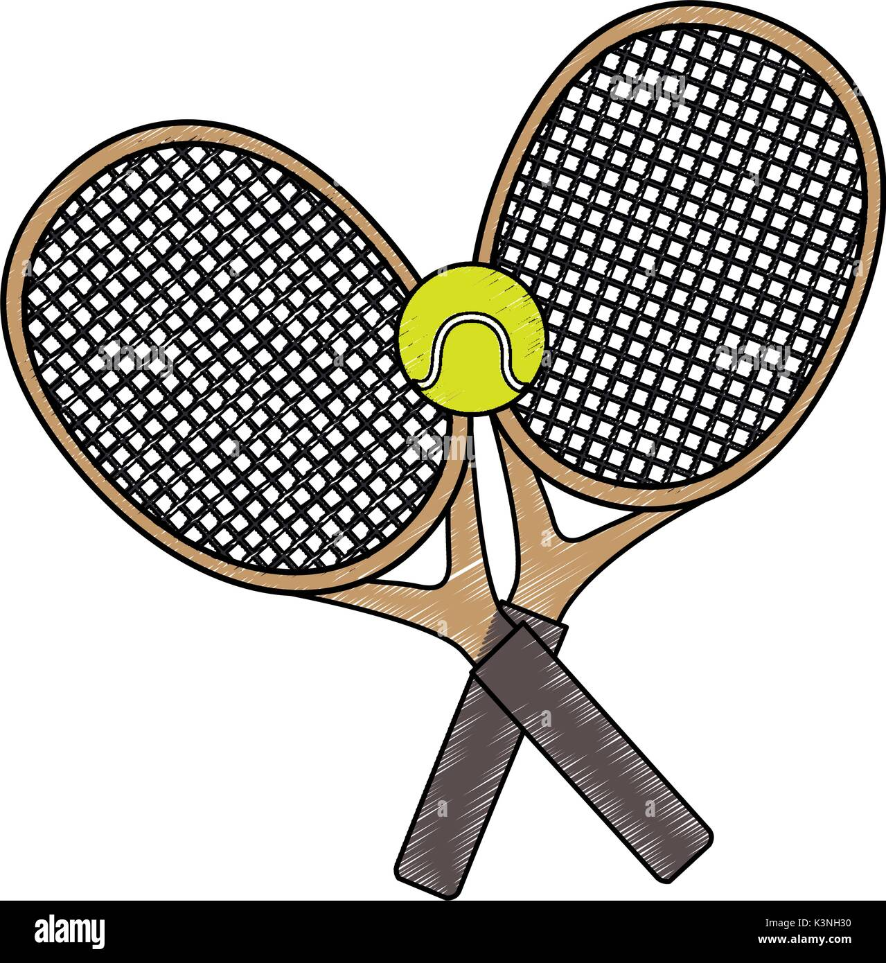 Tennis Racket Isolated Icon Vector Illustration Graphic Design Stock