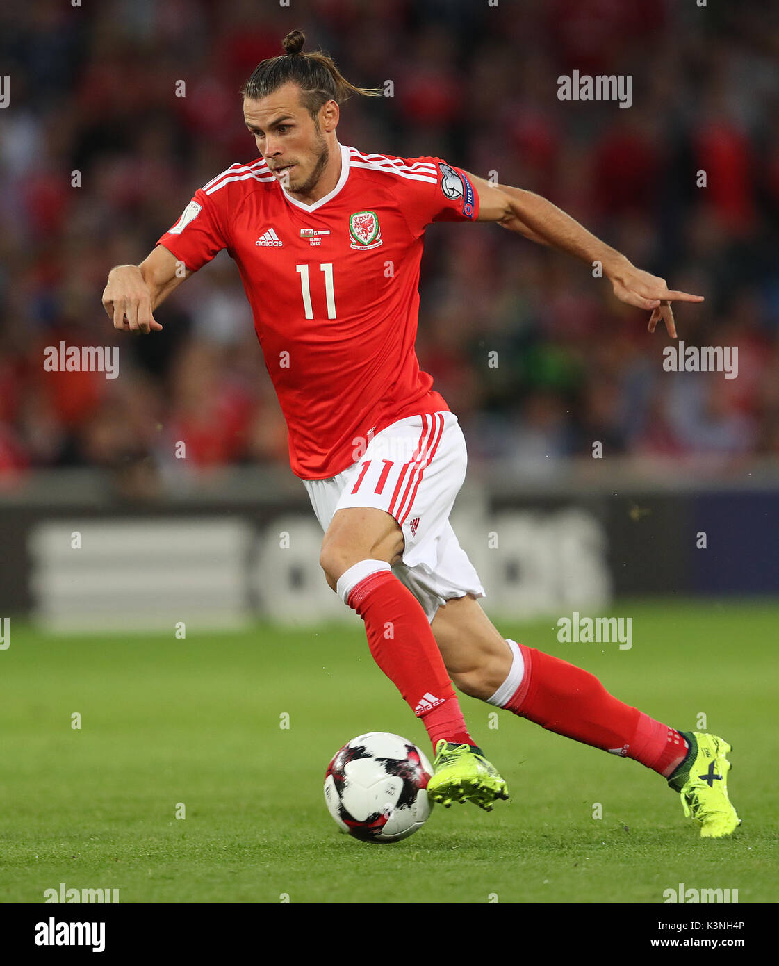 Wales Gareth Bale During The 2018 Fifa World Cup Qualifying Group D Match At Cardiff City Stadium Press Association Photo