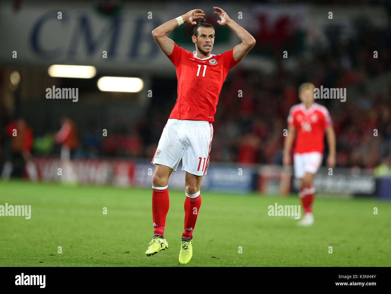 Wales Gareth Bale Reacts To A Missed Chance During The 2018 Fifa World Cup Qualifying Group D Match At Cardiff City Stadium Press Association Photo