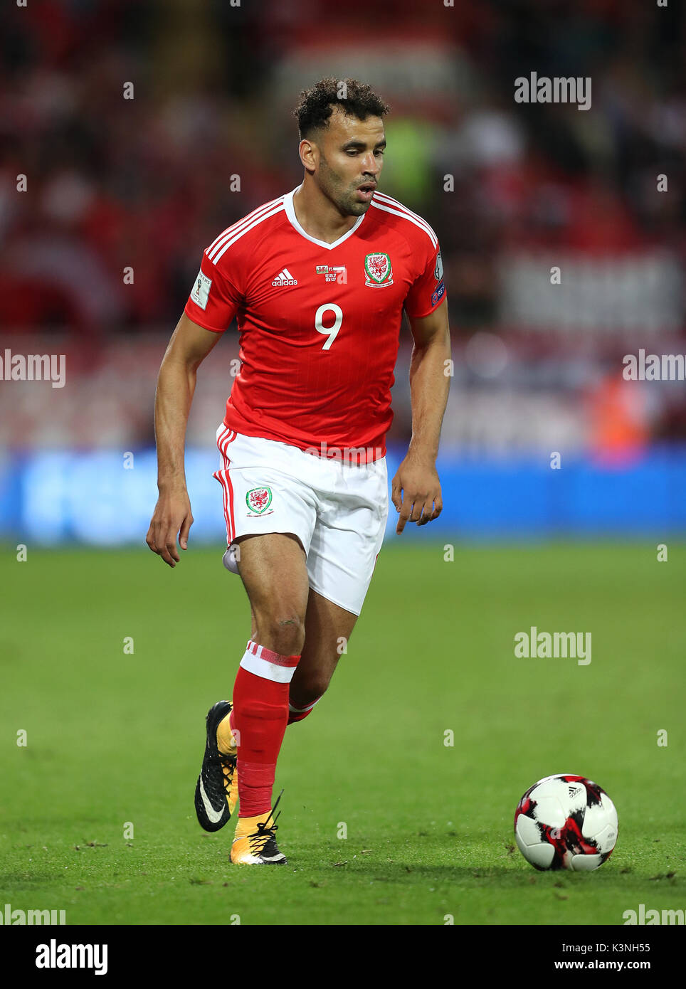 Wales Hal Robson Kanu During The 2018 Fifa World Cup Qualifying Group D Match At Cardiff City Stadium Press Association Photo
