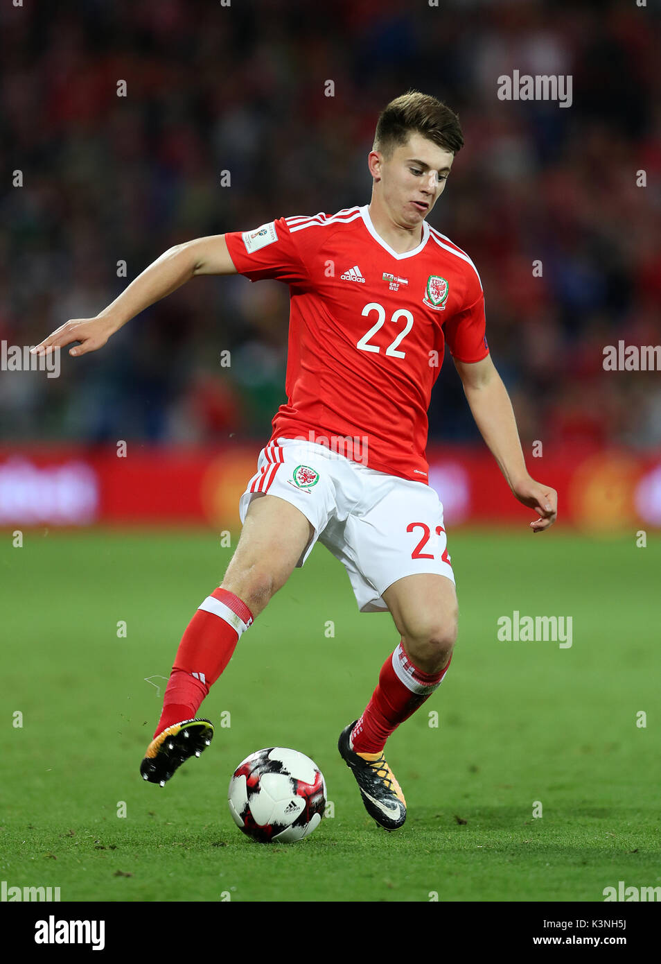 Wales Ben Woodburn During The 2018 Fifa World Cup Qualifying Group D Match At Cardiff City Stadium Press Association Photo