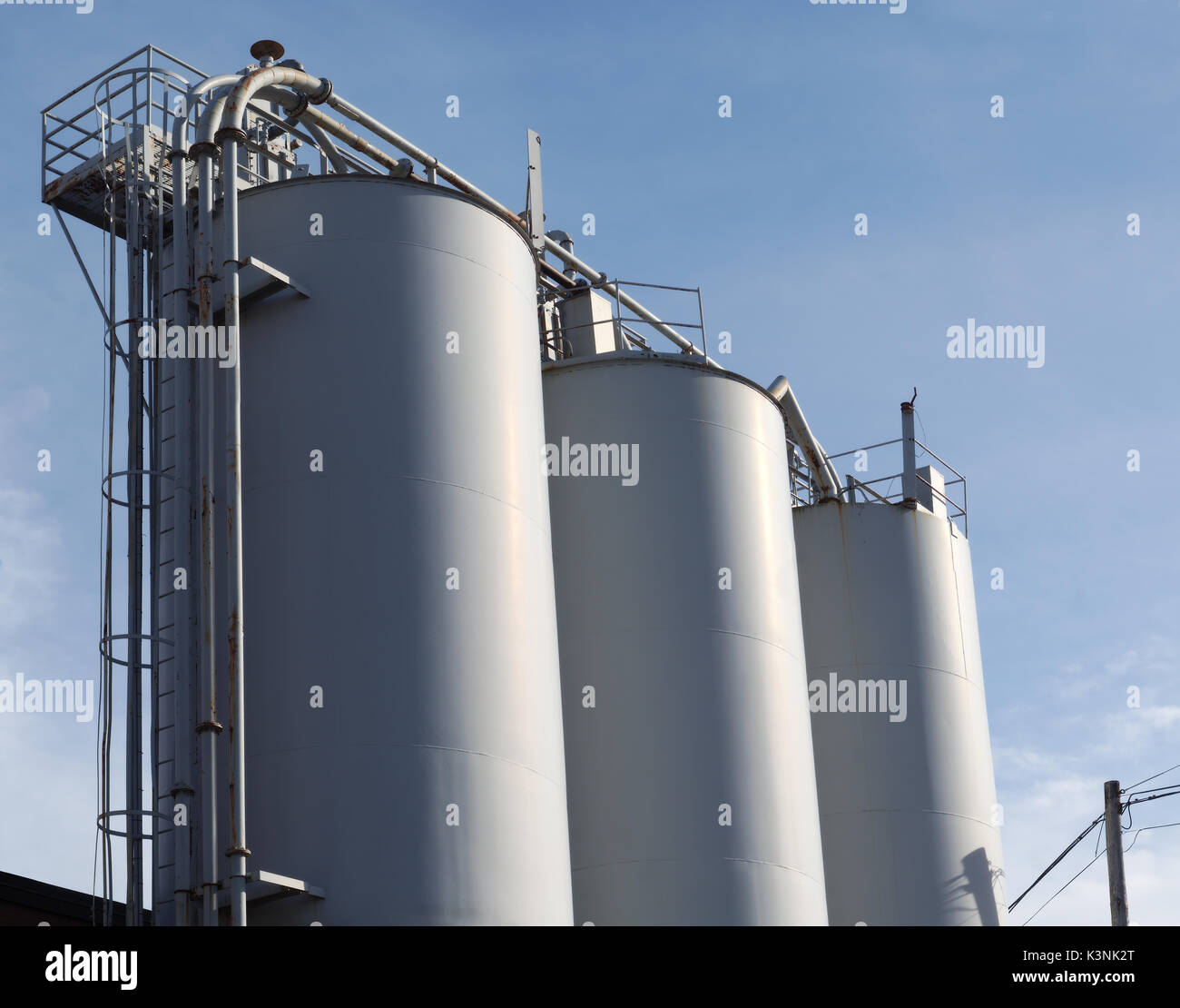 Metal Tanks Bulk Silos Industrial Factory Storage Containers