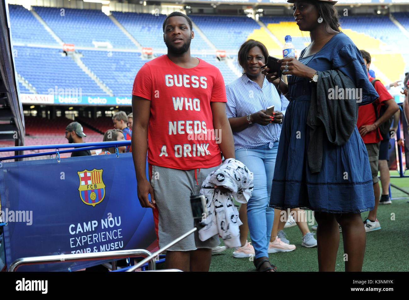 Camp Nou Experience Tour and Museum. - Stock Image