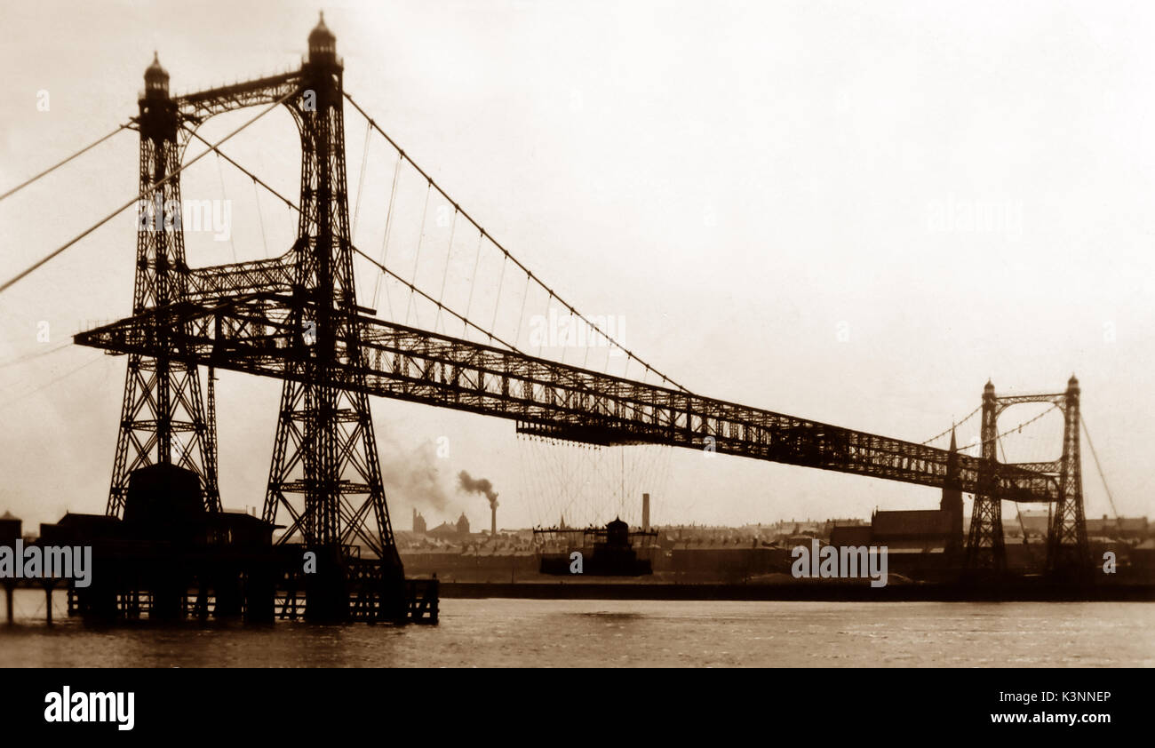 Widnes Transporter Bridge, early 1900s - Stock Image