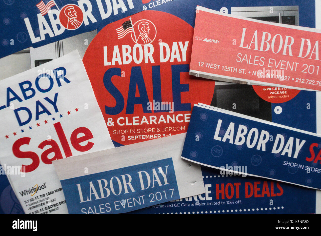 Labor Day Sale Advertisements, USA - Stock Image