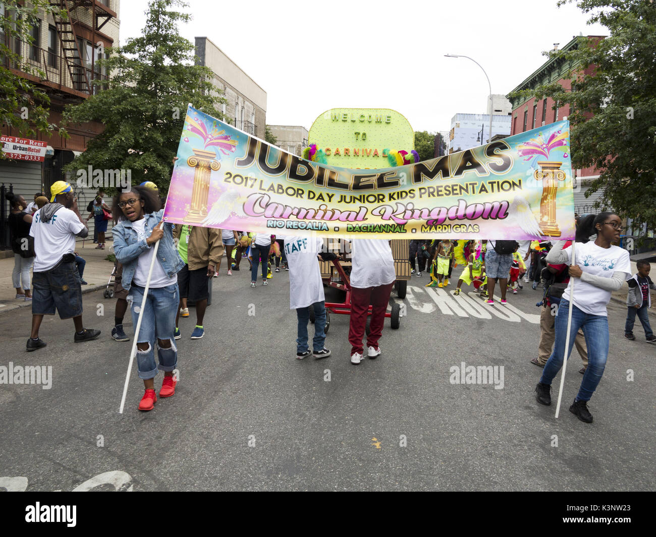 Brooklyn, USA. 2nd September, 2017. The 50th annual Caribbean Junior Carnival in Brooklyn, NY, USA. - Stock Image