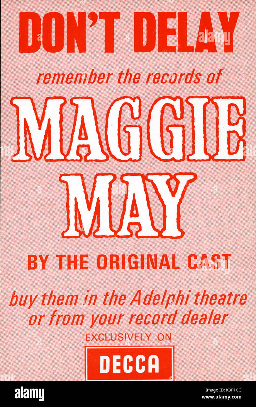 MAGGIE MAY [Theatre Programme] - Stock Image