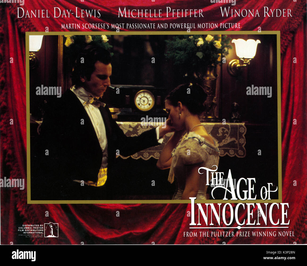 The age of innocence Daniel Day Lewis movie poster