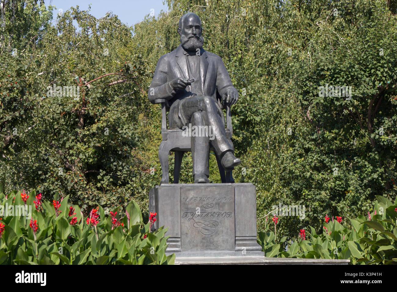 RUSSIA, KAZAN, september 2, 2017: monument for Russian chemist - Alexander Butlerov on Pushkin street - Stock Image