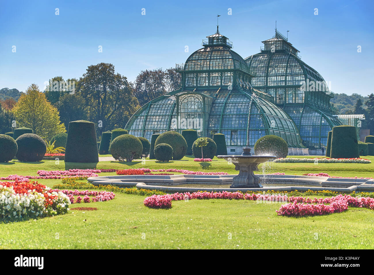 Vienna, Austria - September 24, 2014: Botanical garden near Schonbrunn palace in Vienna - Stock Image