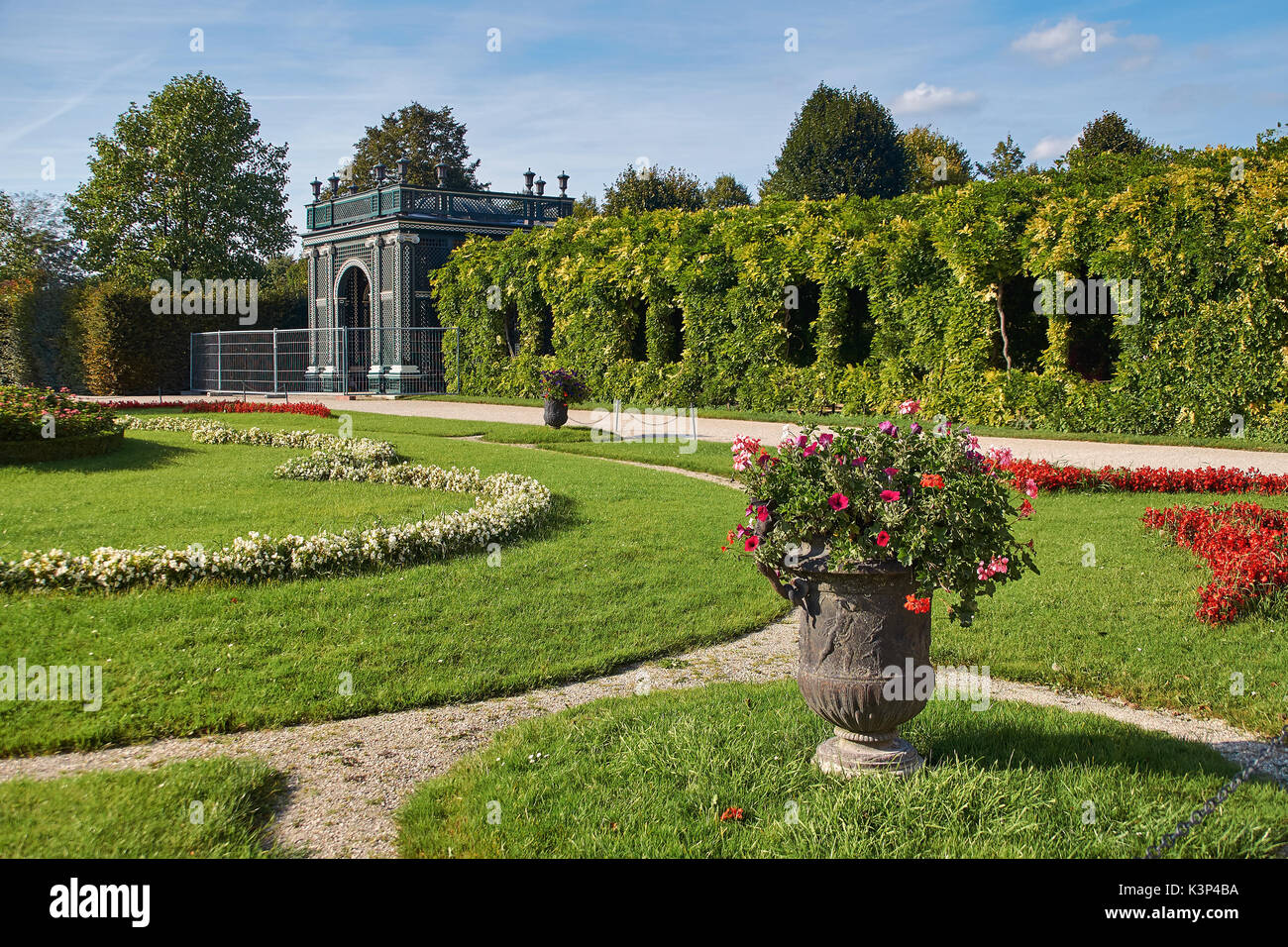 Vienna, Austria - September 24, 2014: Garden house near Schonbrunn palace in Vienna Stock Photo