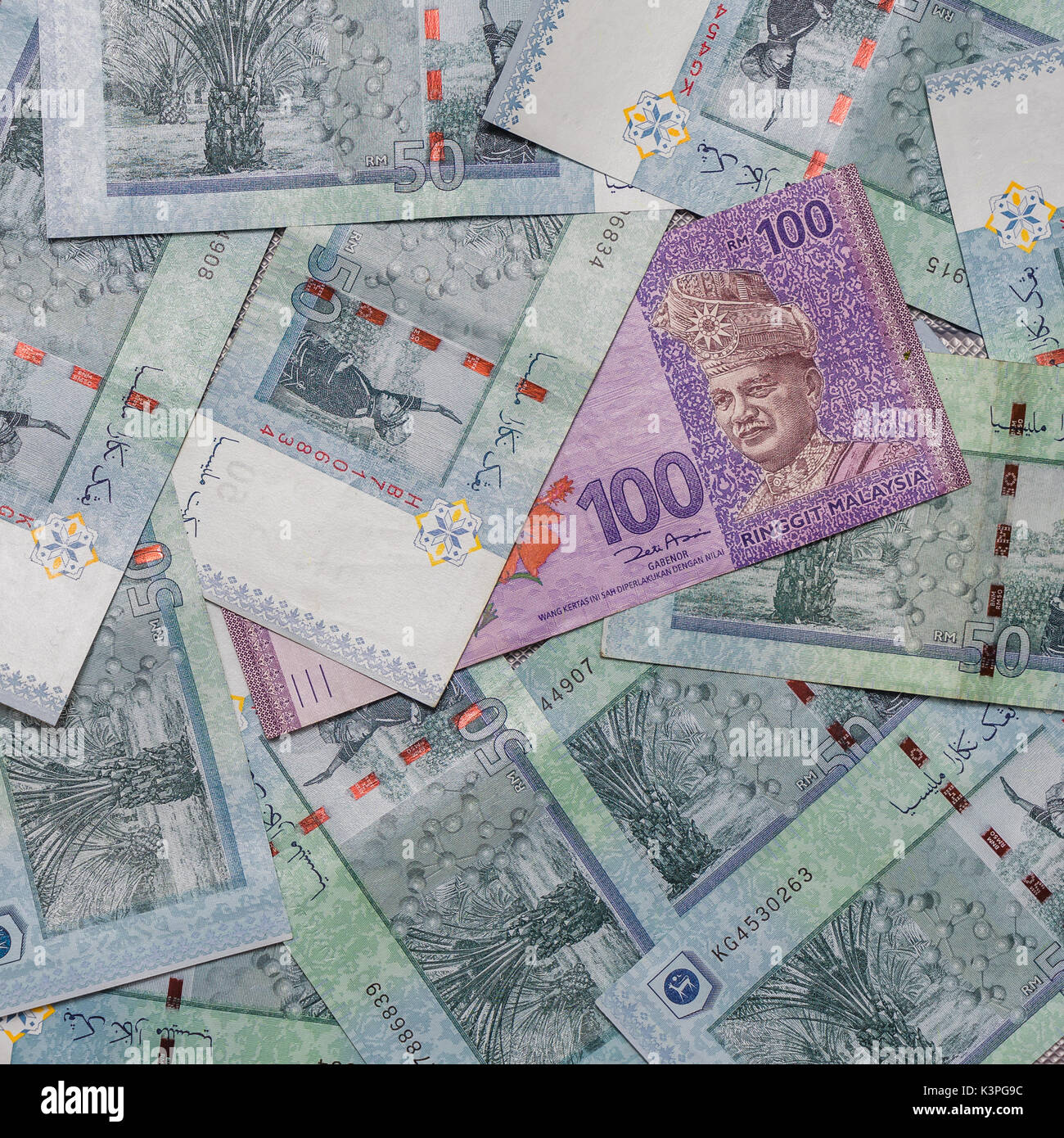 Malaysian Ringgit Currency On Pattern Background Symbol Rm Currency