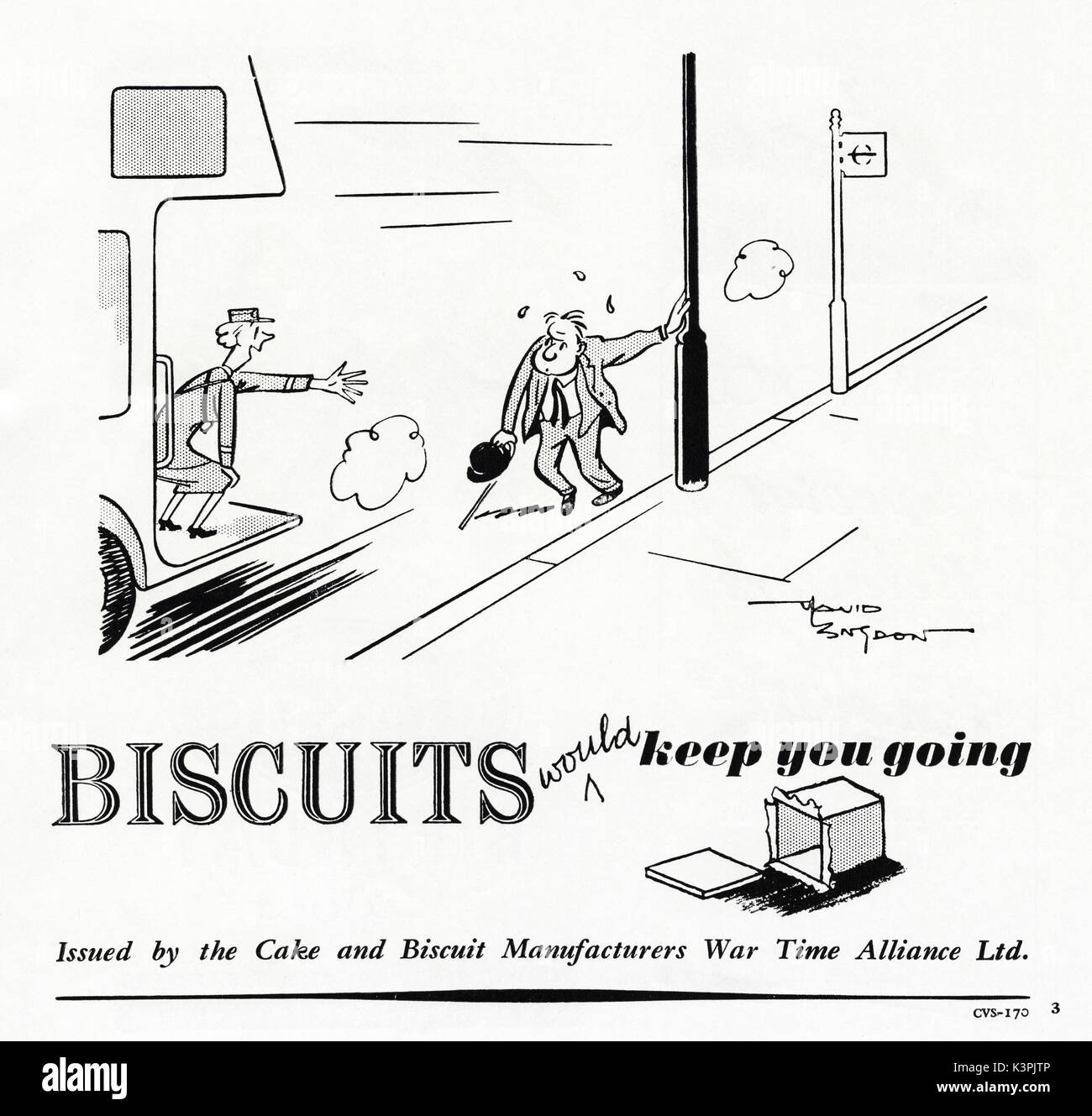 1940s old vintage original advert advertising biscuits Issued by the Cake and Biscuit Manufacturers War Time Alliance Ltd in magazine circa 1947 when supplies were still restricted under post-war rationing - Stock Image