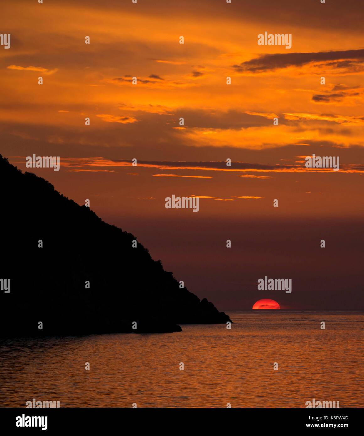 Sunset at Argentario, Tuscany, Italy - Stock Image