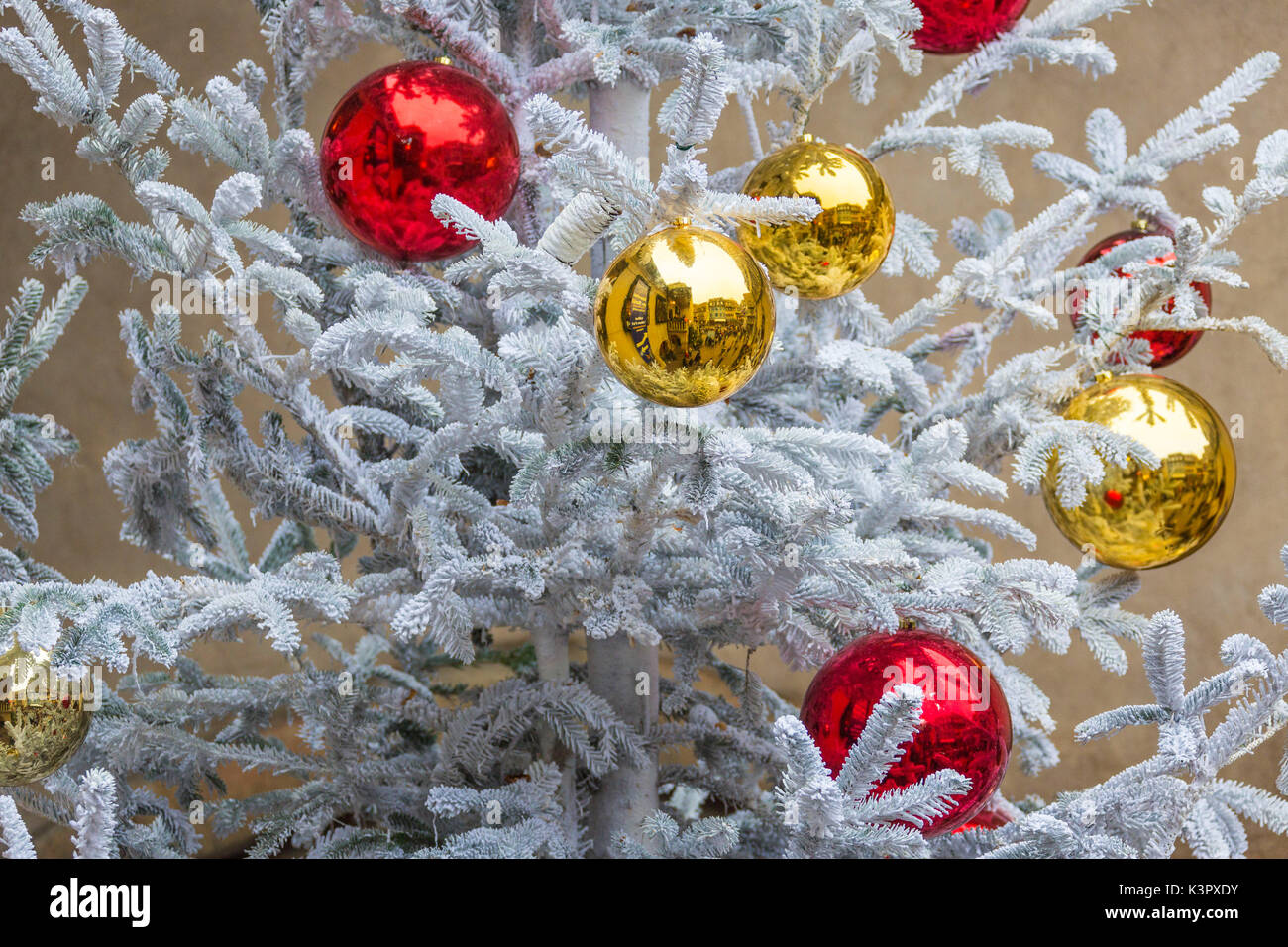 the gold and red christmas bauble as ornaments and decorations kaysersberg haut rhin department alsace - Teal And Red Christmas Decorations