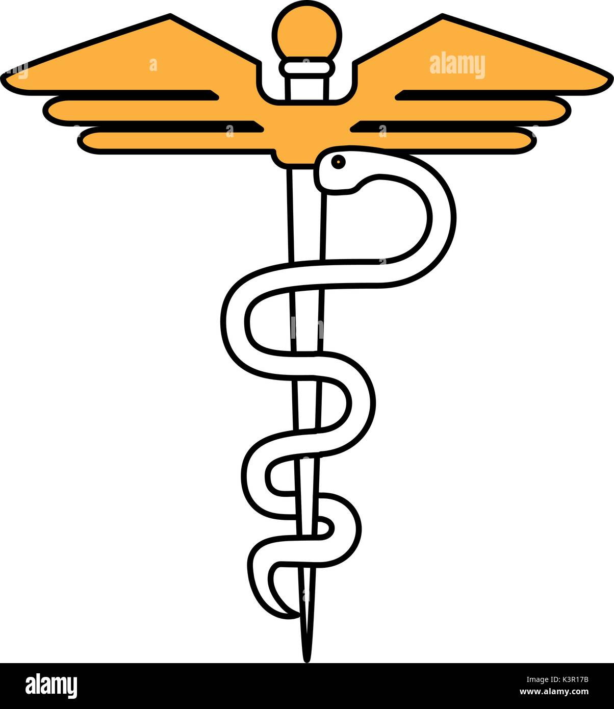 Isolated caduceus design - Stock Image