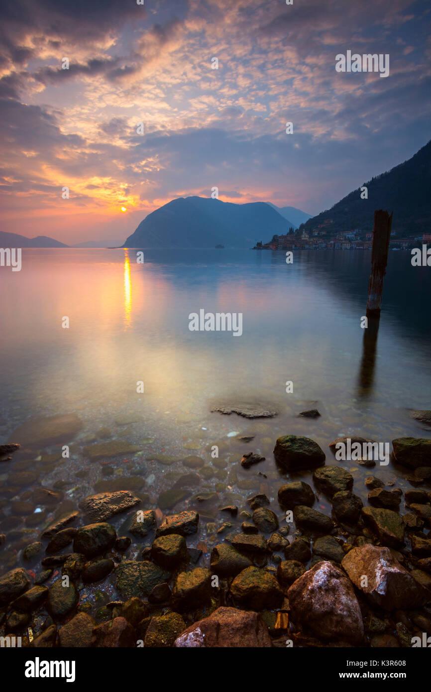 Peschiera Maraglio, Province of Brescia, Italy. - Stock Image