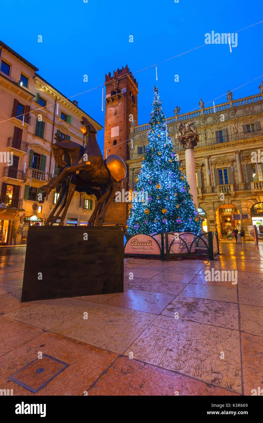Verona Christmas Markets ,Verona province, Veneto district, Italy - Stock Image