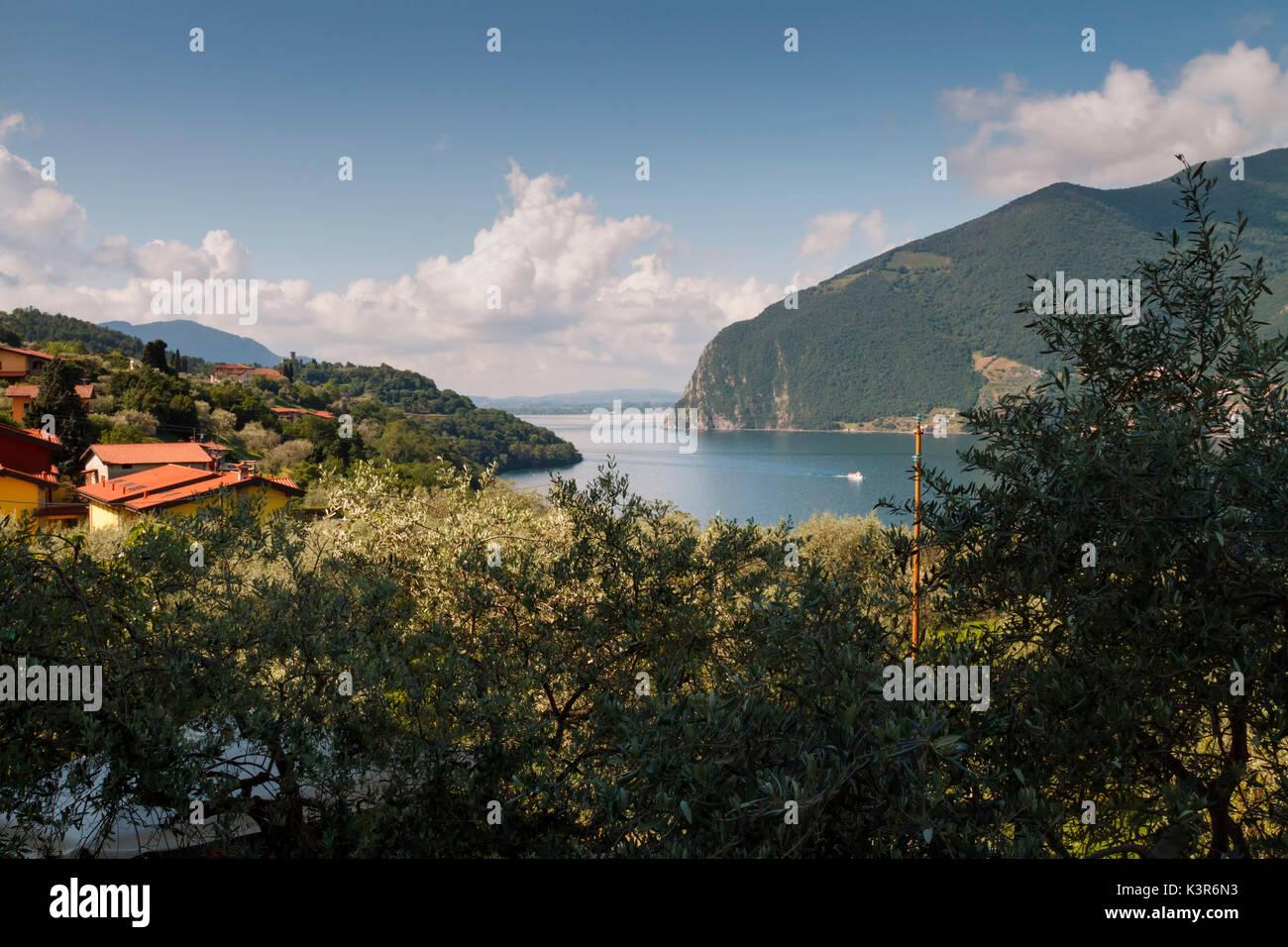Iseo Lake, Italy. Montisola. - Stock Image