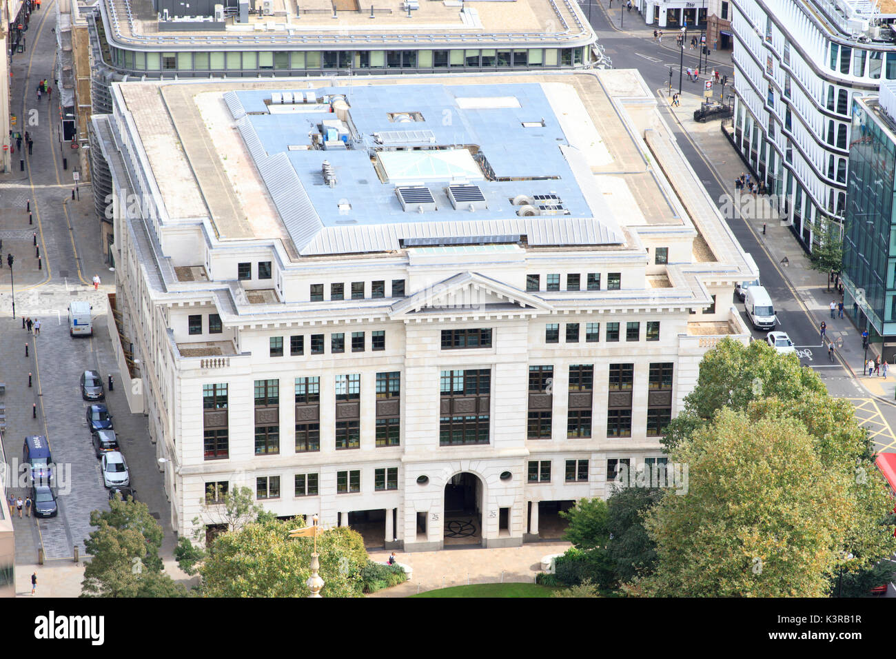 25 Cannon Street, as seen from St. Paul's Cathedral. - Stock Image
