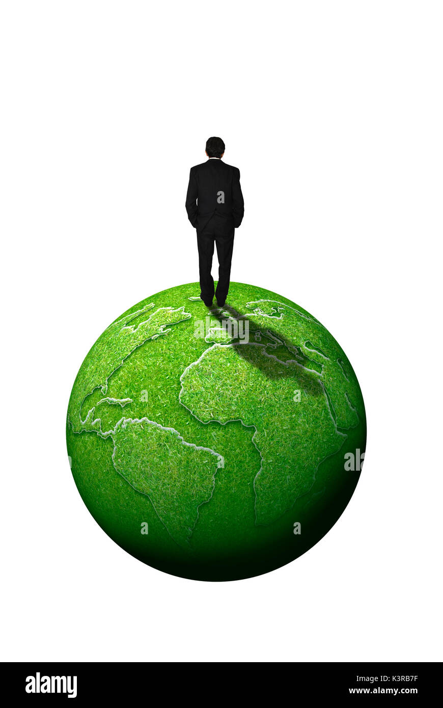 sustainable business and corporate social responsibility concept - Stock Image