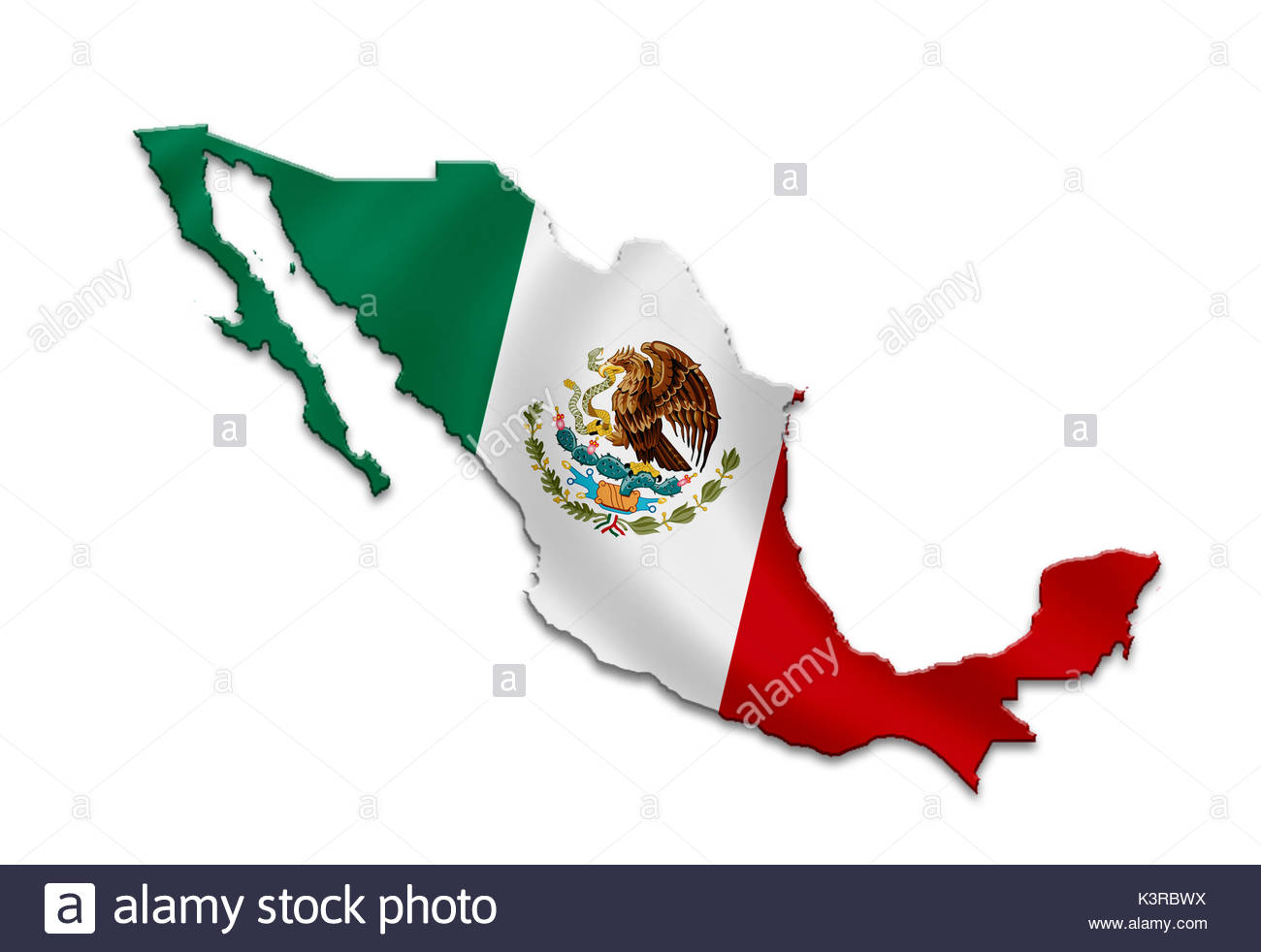 Mexico - map icon - Stock Image