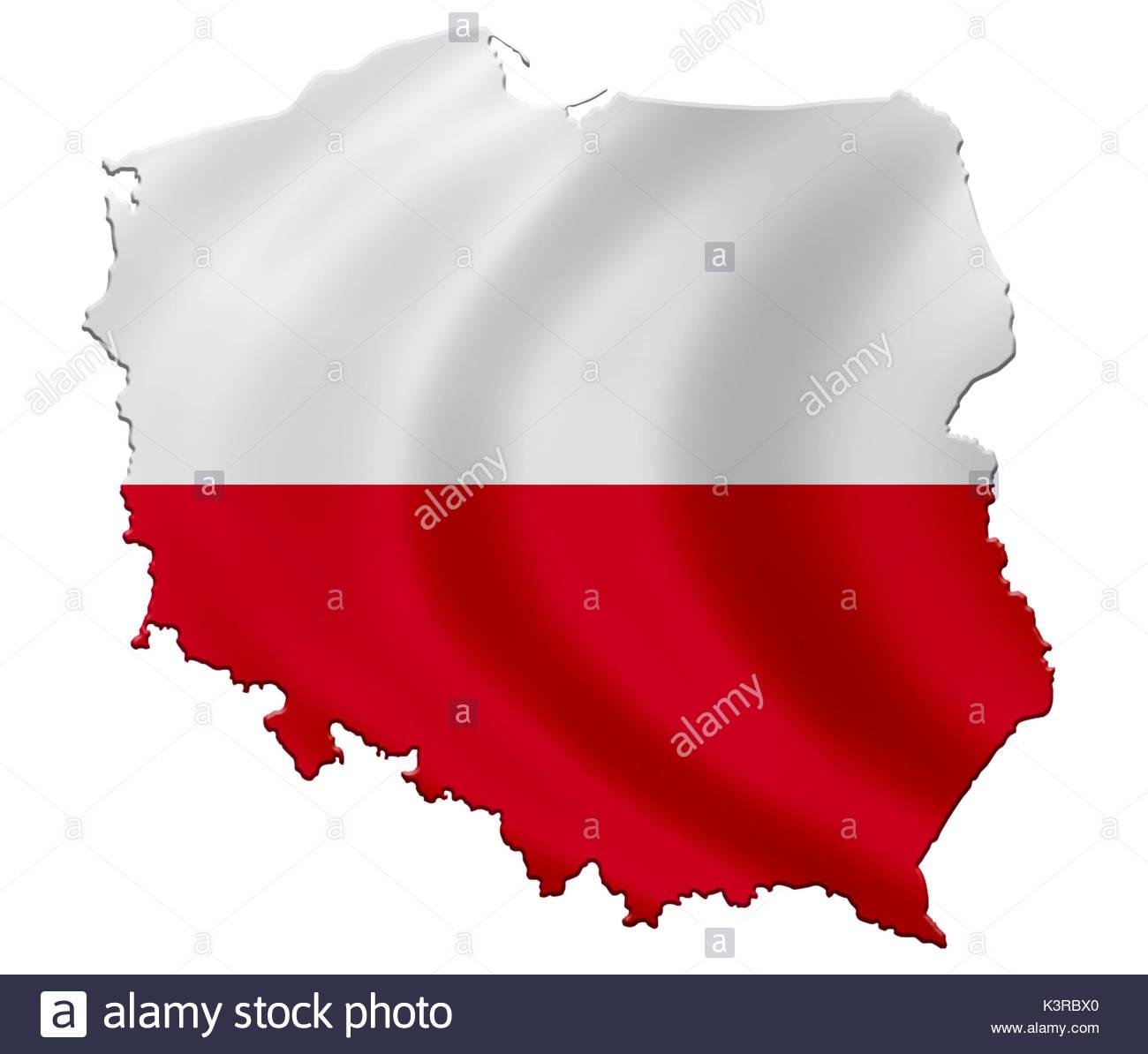 Poland Map Flag Stock Photos & Poland Map Flag Stock Images - Alamy
