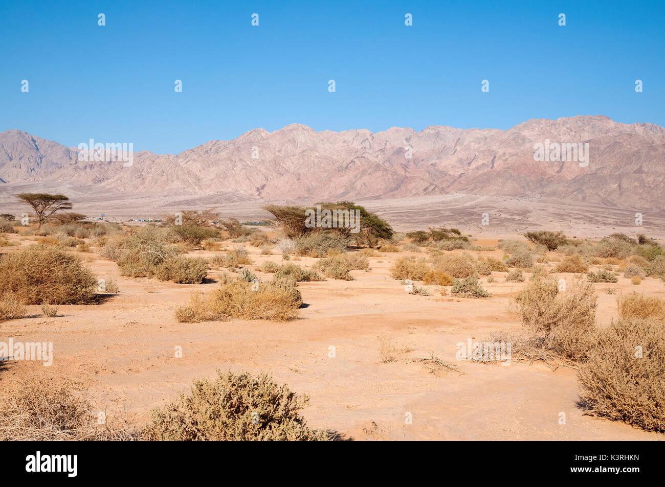 Israeli - Jordan border - Stock Image