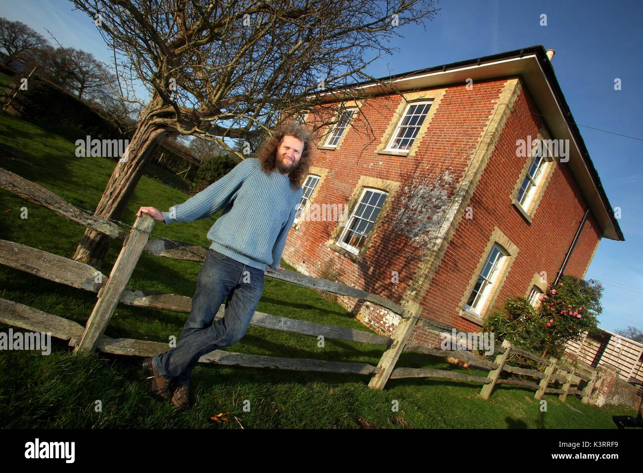 06/01/2012 - ECONOMICS LECTURER RICHARD TOL AT HIS NEW HOME IN BARCOMBE, EAST SUSSEX. Tol is a Professor at the Stock Photo