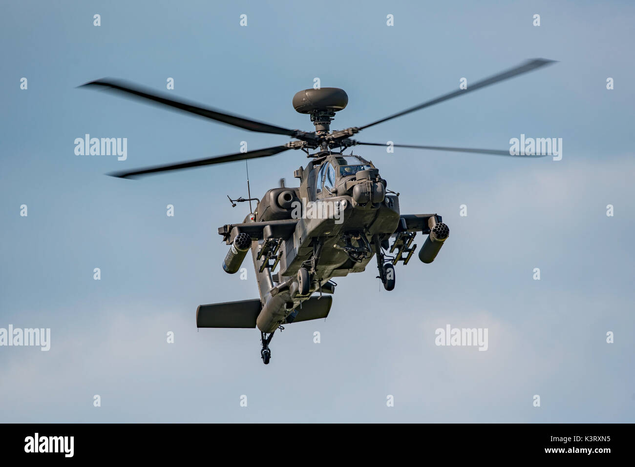 The British Army Air Corps Apache AH1 attack helicopter display at