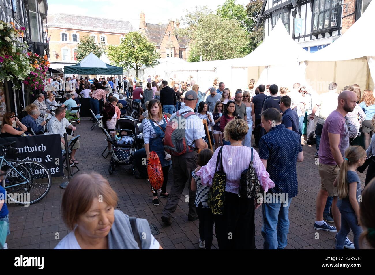 Nantwich Food Festival, Cheshire - Stock Image