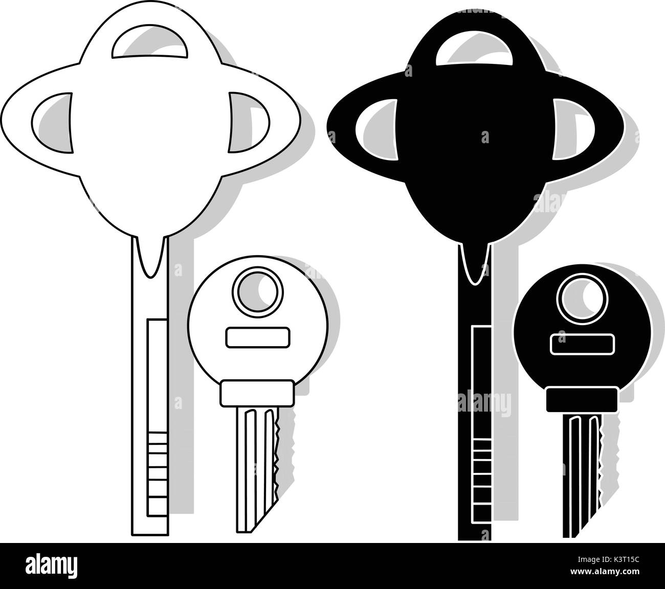 Key isolated illustration set - Stock Image