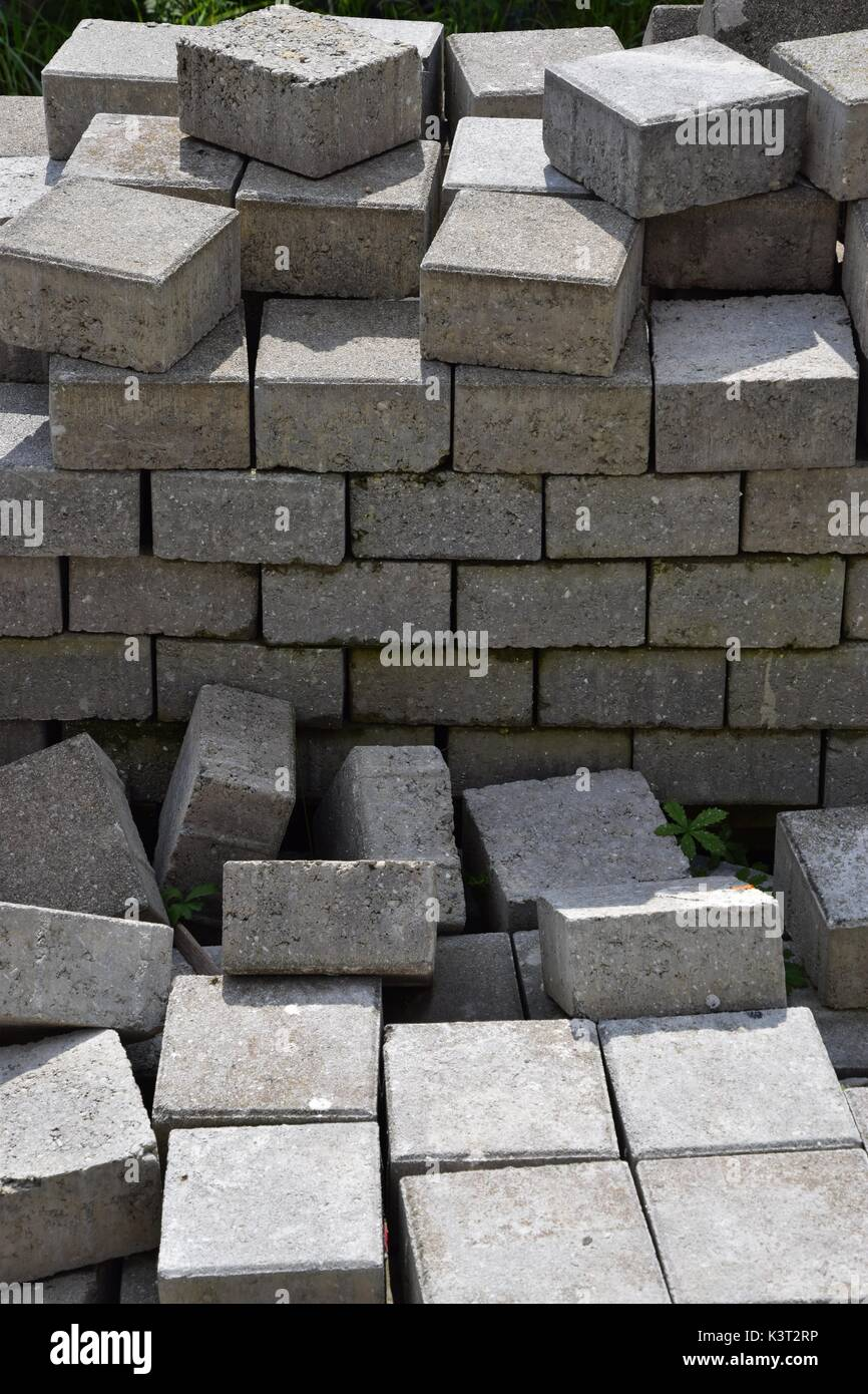 Stone Building Materials : Stone cuboid in construction concrete stones building