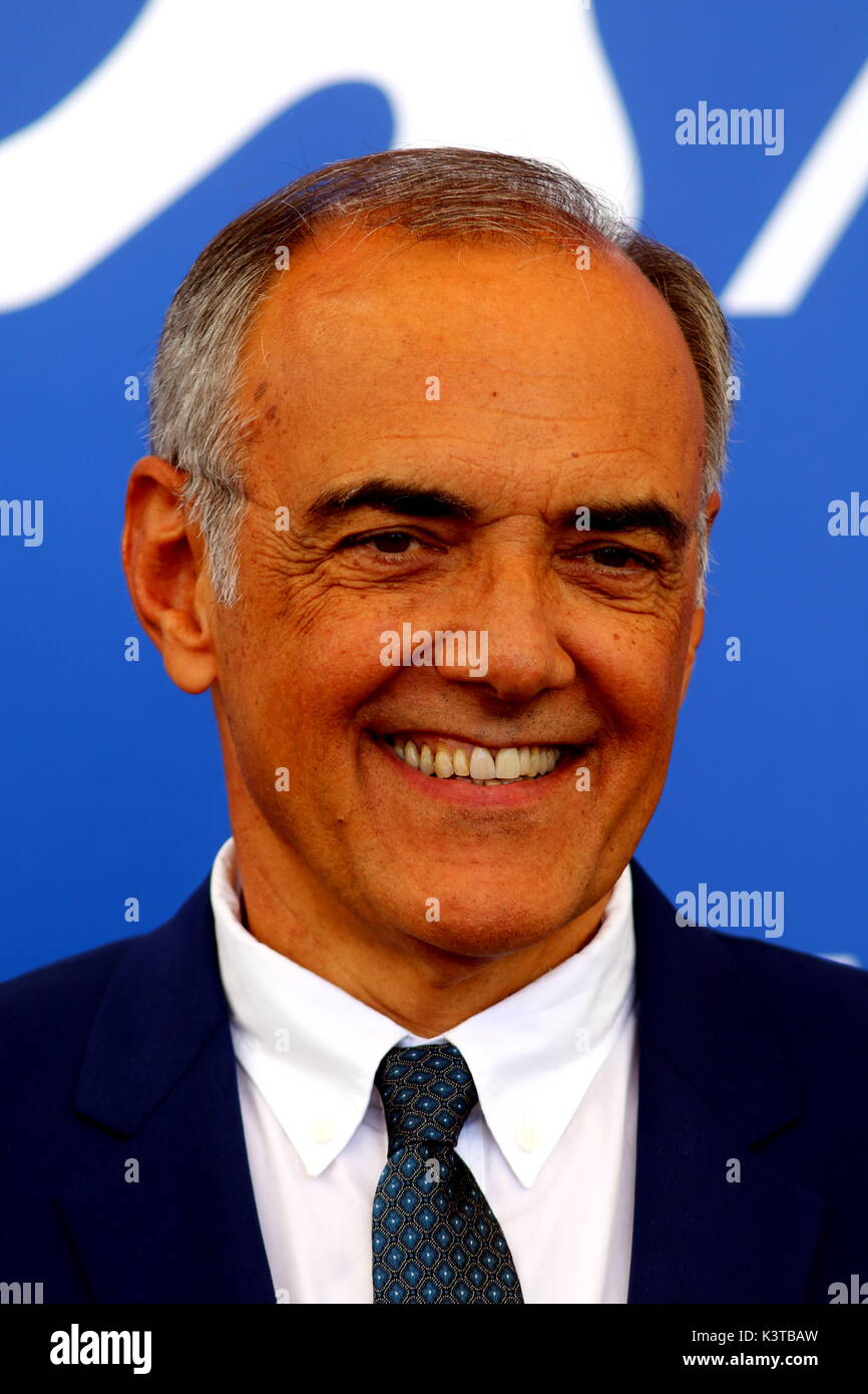 Venice, Italy. 3rd Sep, 2017. Director of the Venice International Film Festival Alberto Barbera attends the photocall during the 74th Venice International Film Festival at Lido of Venice on 3th September, 2017. Credit: Andrea Spinelli/Alamy Live News - Stock Image