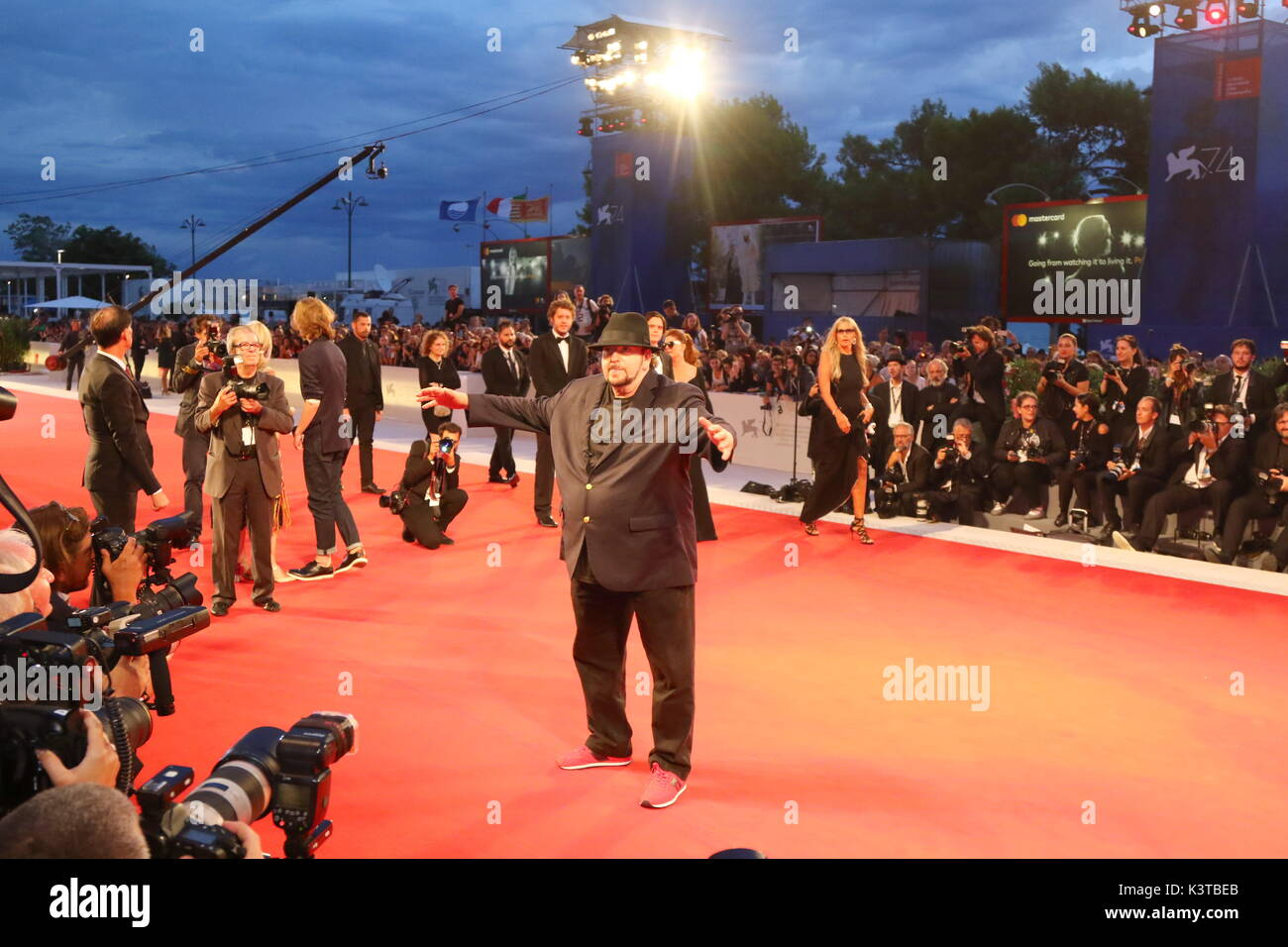 Venice, Italy. 3rd Sep, 2017. James Toback attends during the 'The Private Life Of A Modern Woman' premiere during the 74th Venice International Film Festival at Lido of Venice on 3th September, 2017. Credit: Andrea Spinelli/Alamy Live News - Stock Image