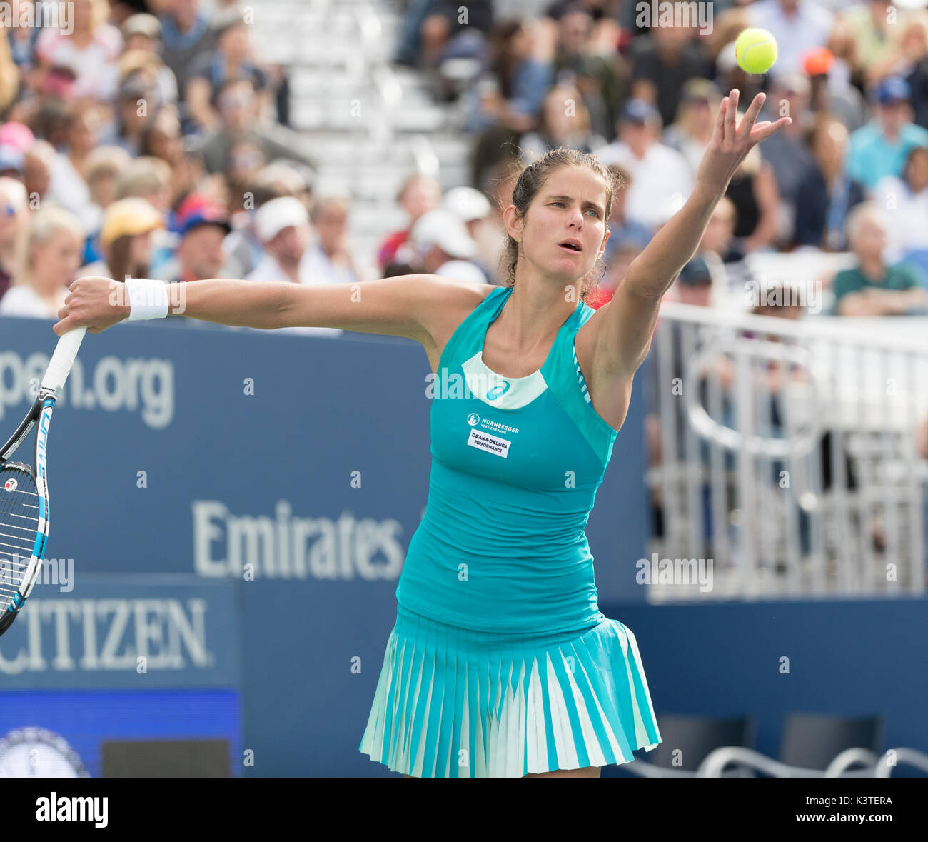 New York Ny Usa September 3 2017 Julia Goerges Of Germany